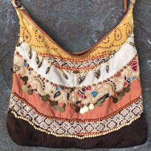 Vintage Style Hobo Bag With Beads